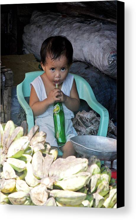 Photographer Canvas Print featuring the photograph Cooling Drink by Jez C Self