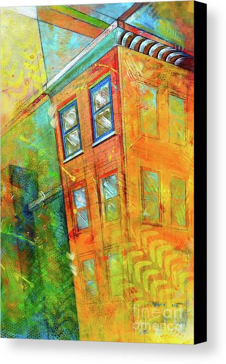 Building Canvas Print featuring the painting Cornice by Christopher Triner
