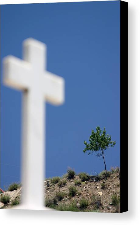 Photographer Canvas Print featuring the photograph Crossed 9 by Jez C Self