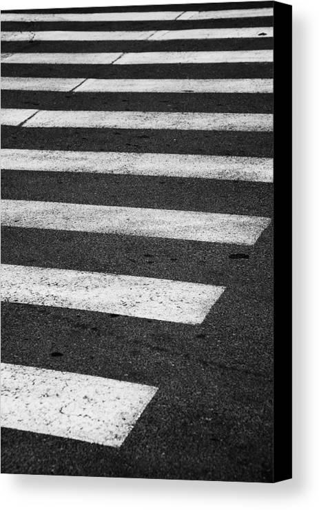 Crosswalk Canvas Print featuring the photograph Crosswalk by Gabriela Insuratelu