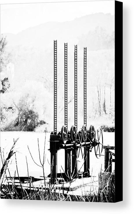 Agia Canvas Print featuring the photograph Dam by Gabriela Insuratelu
