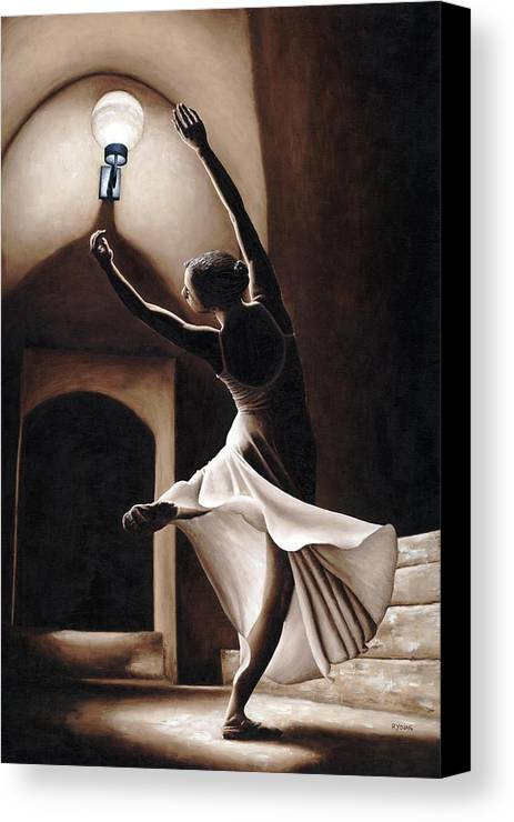 Dance Canvas Print featuring the painting Dance Seclusion by Richard Young