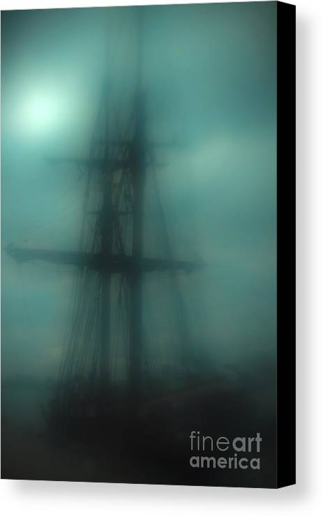 Blue Canvas Print featuring the photograph Dangerous Waters by Andrew Paranavitana