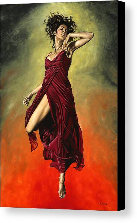 Dance Canvas Print featuring the painting Destiny's Dance by Richard Young