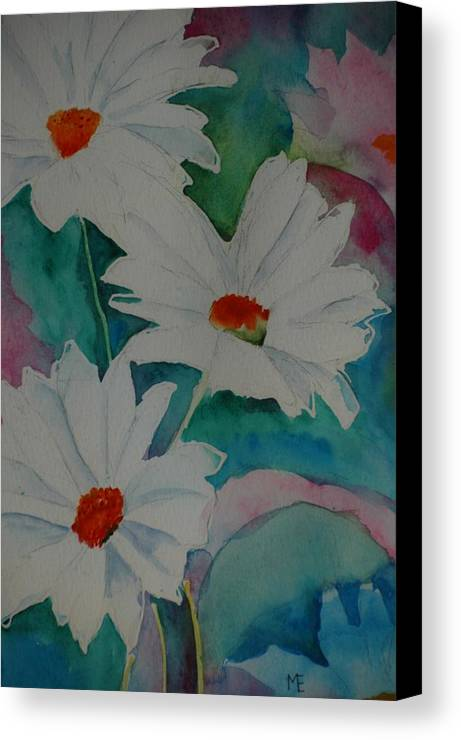 Daisies Canvas Print featuring the painting Devin's Dasies by Melinda Etzold