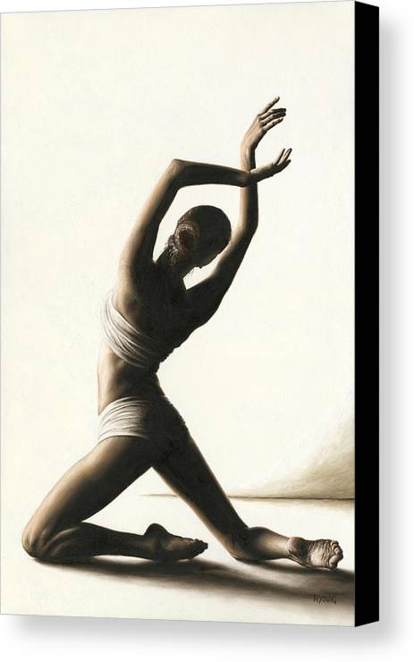 Dancer Canvas Print featuring the painting Devotion To Dance by Richard Young