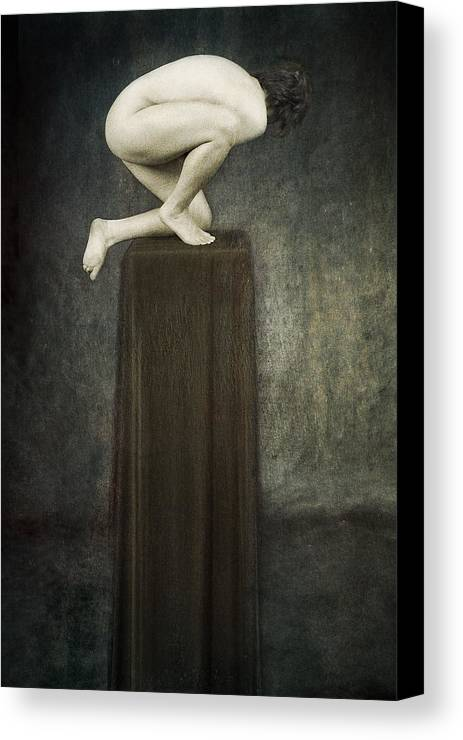 Canvas Print featuring the photograph Discobolus by Zygmunt Kozimor