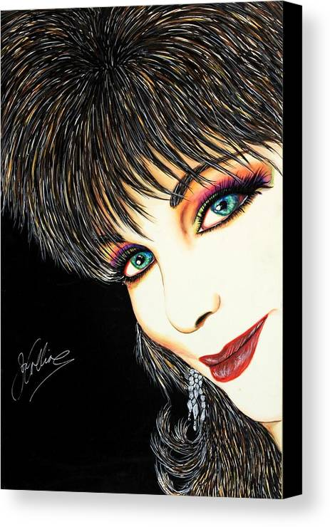 Actress Canvas Print featuring the mixed media Diva Nasty by Joseph Lawrence Vasile