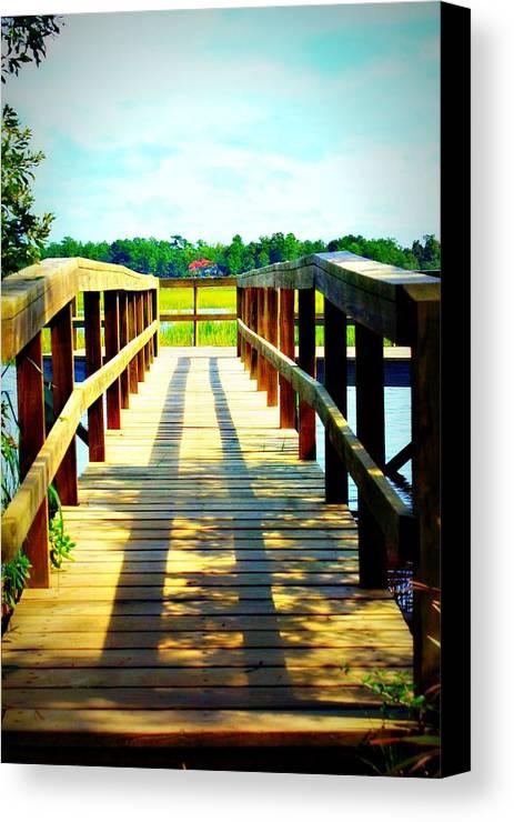 Landscape Canvas Print featuring the photograph Dock On Alston Creek by Jill Tennison