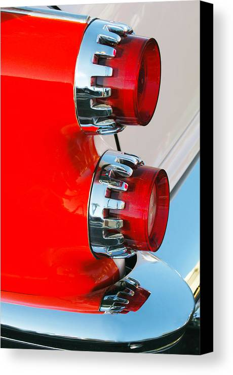 Car Canvas Print featuring the photograph Dodge Coronet Taillight by Jill Reger