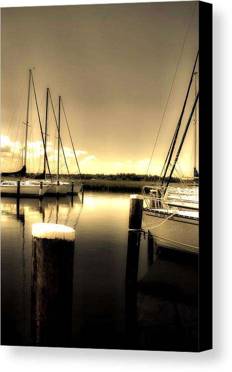 Mobile Al Canvas Print featuring the photograph Dog River Marina by Gulf Island Photography and Images
