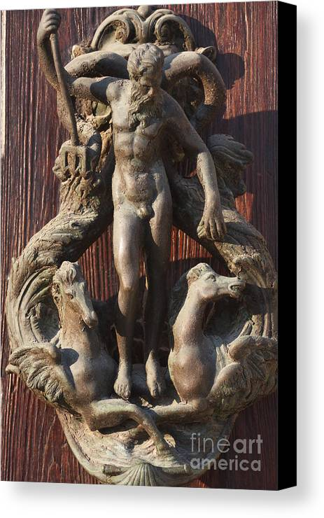 Venice Canvas Print featuring the photograph Door Knocker In Venice by Michael Henderson