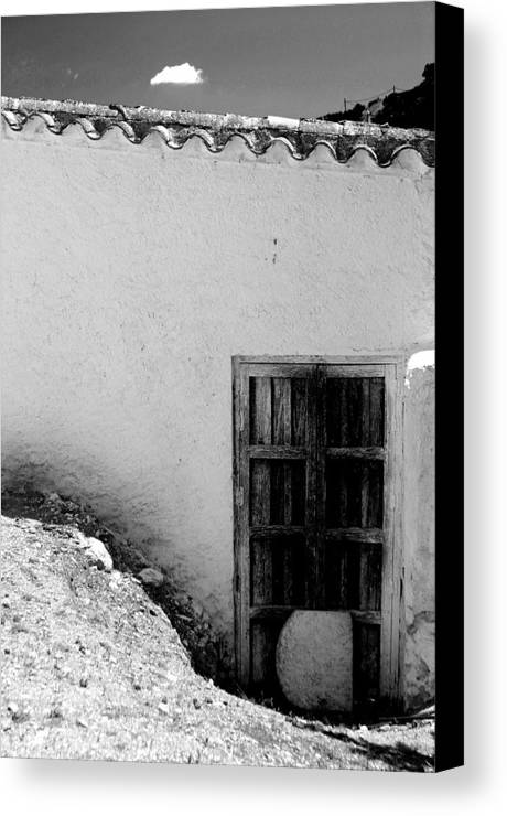 Photographer Canvas Print featuring the photograph Door To Death by Jez C Self