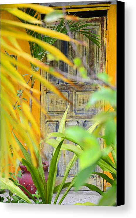 Door Canvas Print featuring the photograph Door To Paradise by Tom Hollett