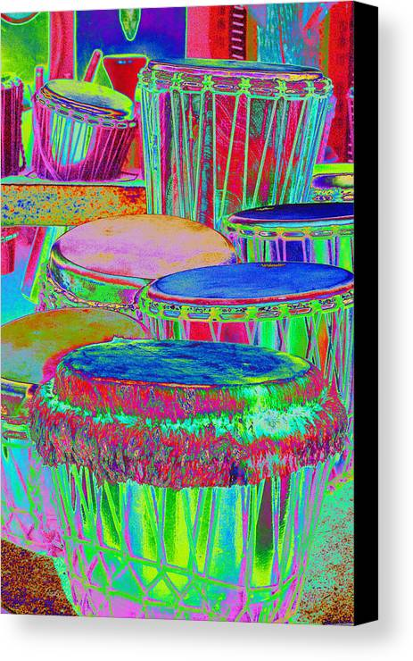 Psychedelic Canvas Print featuring the photograph Drums Of Change by Richard Henne