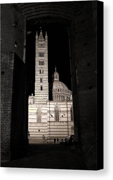 Italy Canvas Print featuring the photograph Duomo Di Siena by Carl Jackson