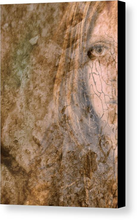 Abstract Canvas Print featuring the photograph Earth Maiden by Steve Parrott