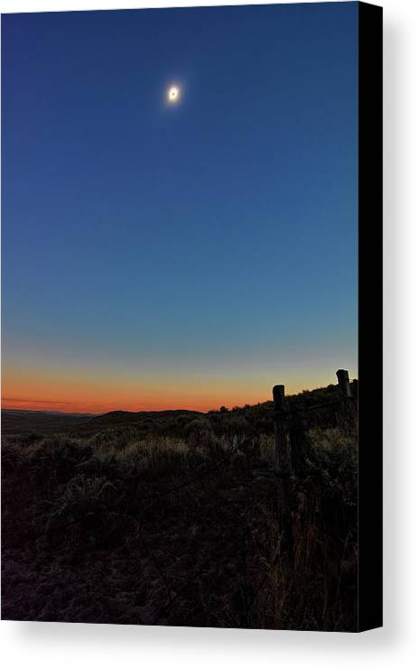 Eclipse Canvas Print featuring the photograph Eclipsed by Bonfire Photography
