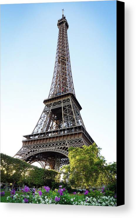 Eiffel Tower Canvas Print featuring the photograph Eiffel Tower 4 by Craig Andrews