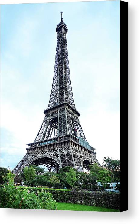 Eiffel Tower Canvas Print featuring the photograph Eiffel Tower 9 by Craig Andrews