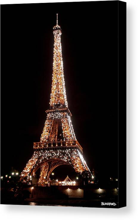 Eiffel Tower Canvas Print featuring the photograph Eiffel Tower Sparkling by Al Blackford