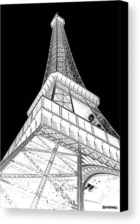 Eiffel Tower Canvas Print featuring the photograph Eiffel Up Inverted by Al Blackford