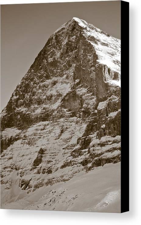 Frank Tschakert Canvas Print featuring the photograph Eiger North Face by Frank Tschakert