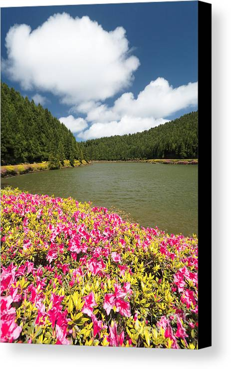 Portugal Canvas Print featuring the photograph Empadadas Lakes II by Gaspar Avila