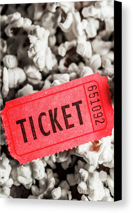 Event Ticket Lying On Pile Of Popcorn Canvas Print / Canvas Art by ...