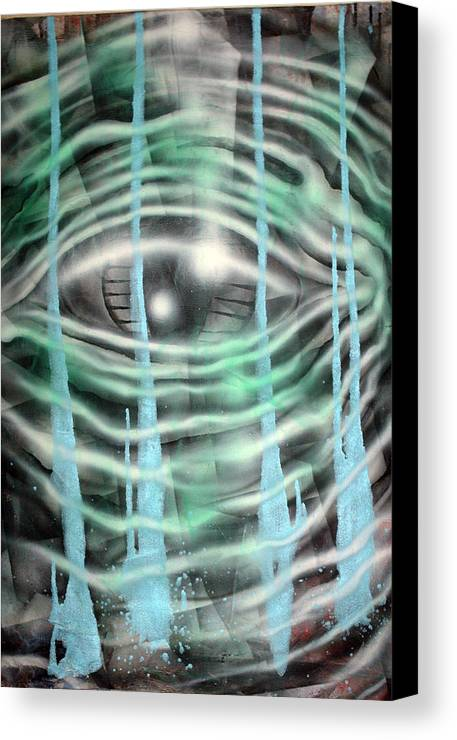 Surreal Canvas Print featuring the painting Eye Knew by Leigh Odom