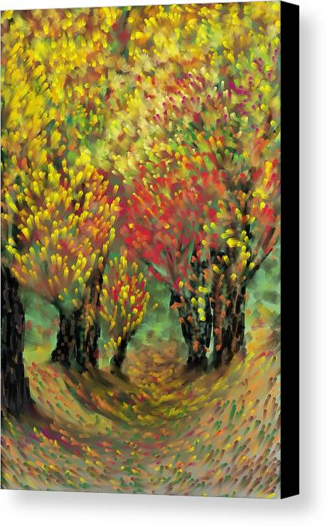 Landscape Canvas Print featuring the painting Fall Impression by Harry Dusenberg