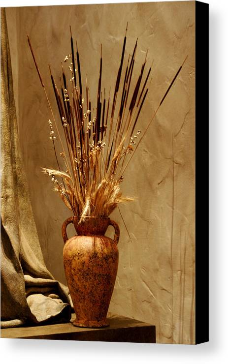 Fall Canvas Print featuring the photograph Fall In A Vase Still-life by Christine Till