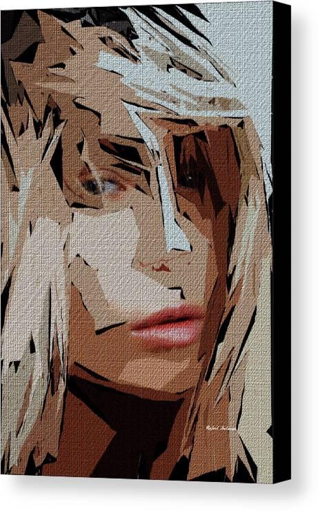 Female Canvas Print featuring the digital art Female Expressions Xx by Rafael Salazar