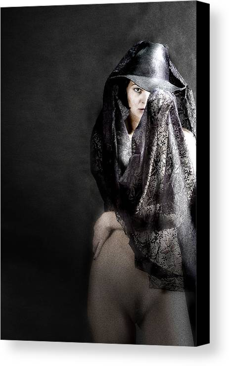 Canvas Print featuring the photograph Femme Fatale by Zygmunt Kozimor
