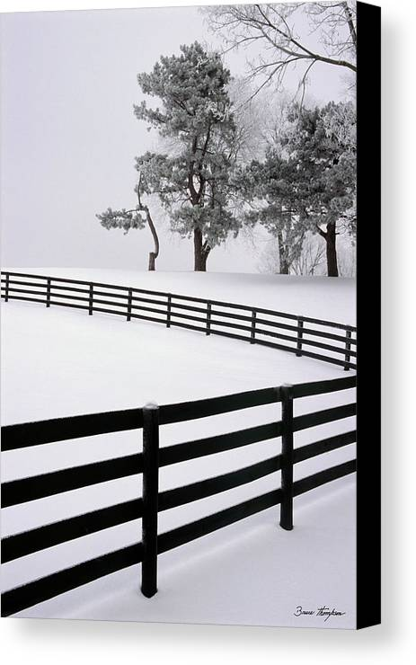 Fence Canvas Print featuring the photograph Zig Zag by Bruce Thompson