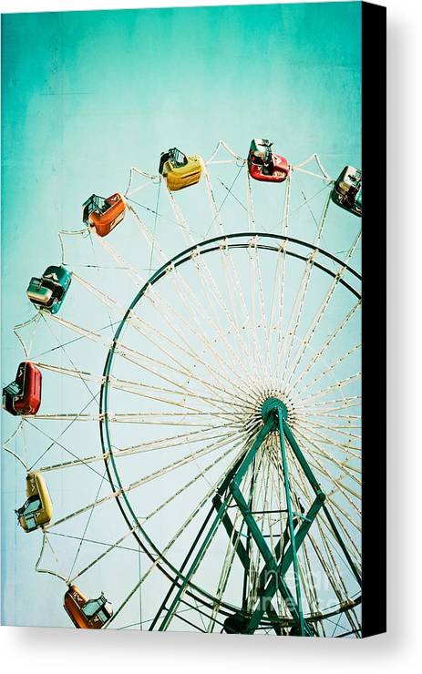 Ferris Wheel Canvas Print featuring the photograph Ferris Wheel 2 by Kim Fearheiley
