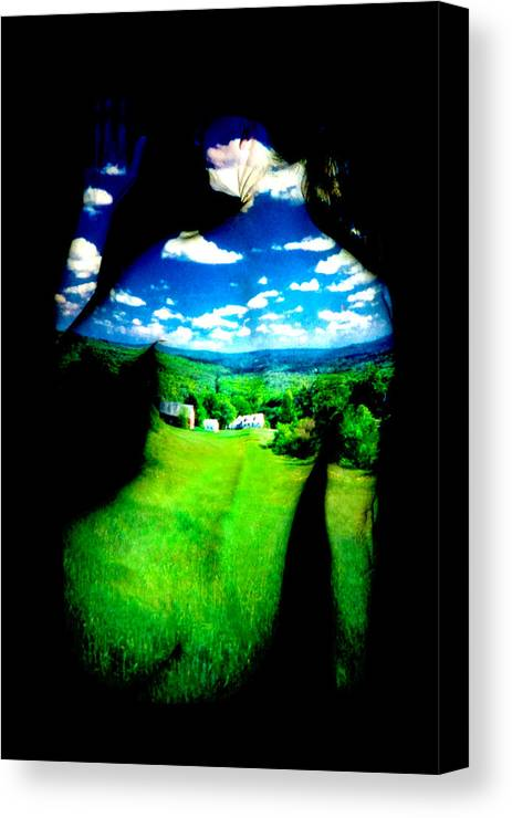Field Canvas Print featuring the photograph Field Girl by Greg Fortier