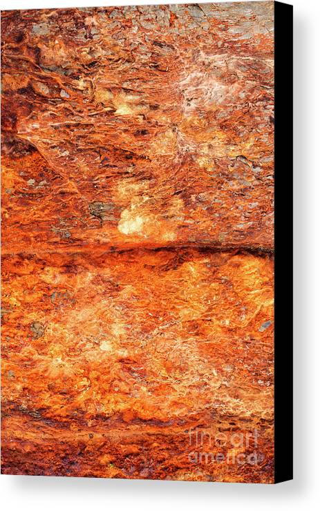 Iron Ore Canvas Print featuring the photograph Fire Rock by Tim Gainey