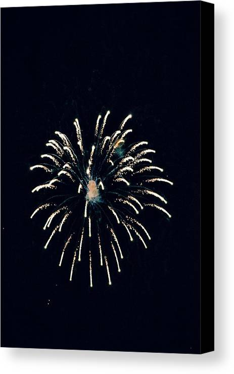 July 4 Canvas Print featuring the photograph Firework by Eric West