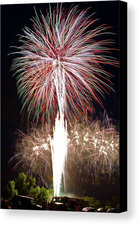 Fireworks Canvas Print featuring the photograph Fireworks by Ernesto Grossmann