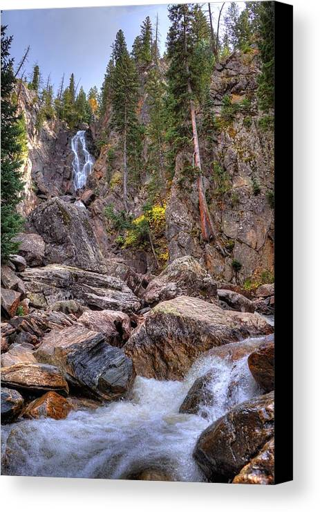 Fall Canvas Print featuring the photograph Fish Creek Fallin by David Ross