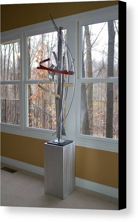 Metal Canvas Print featuring the sculpture Fleeting Moment by Mac Worthington