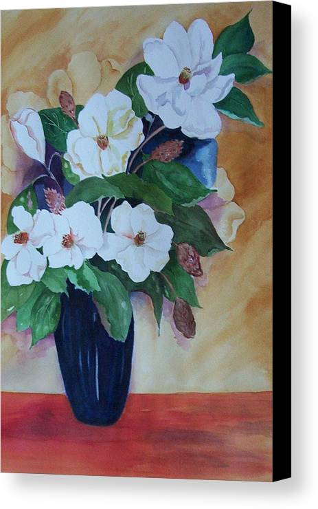 Floral Canvas Print featuring the painting Flowers For The Table by Audrey Bunchkowski