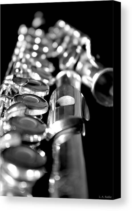 Lauren Radke Canvas Print featuring the photograph Flute Series II by Lauren Radke