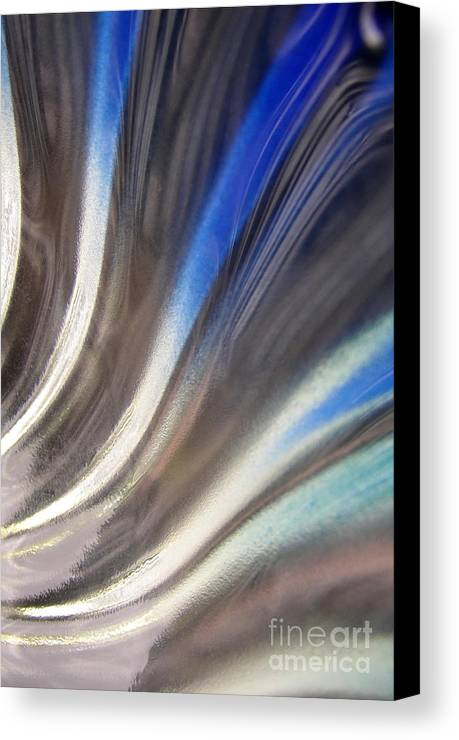 Blue Canvas Print featuring the photograph Fluted Blue by Elizabeth McPhee
