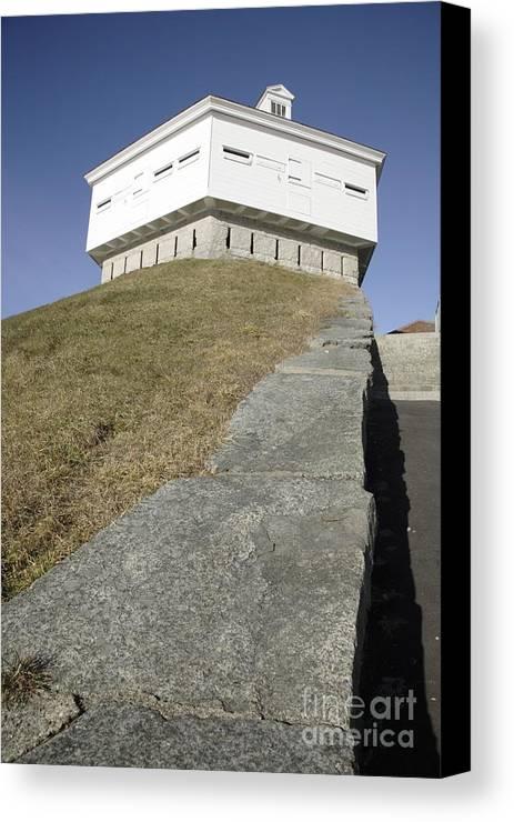 Atlantic Ocean Canvas Print featuring the photograph Fort Mcclary - Kittery Maine Usa by Erin Paul Donovan