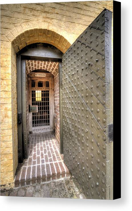 Fort Canvas Print featuring the photograph Fort Moultrie Magazine Door by Dustin K Ryan