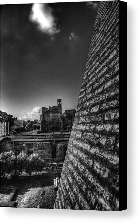 Rome Canvas Print featuring the photograph Forum View by Brian Thomson