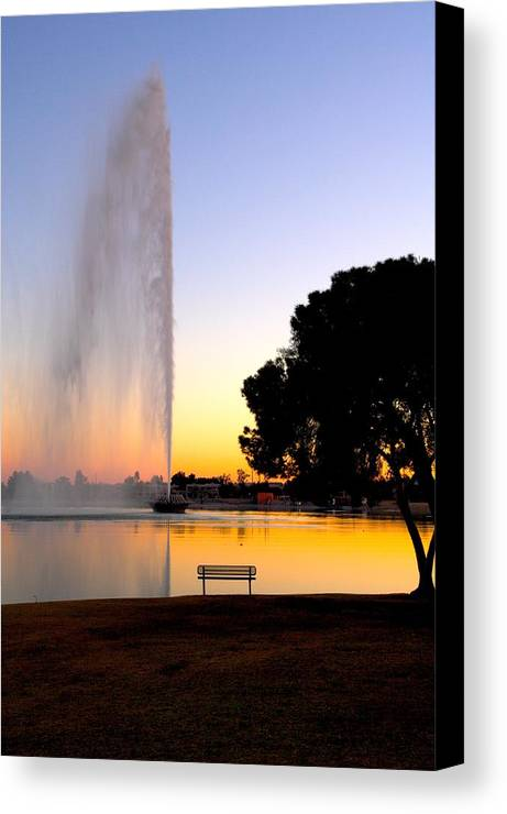 Fountain Hills Canvas Print featuring the photograph Fountain Hills by Paul Kloschinsky