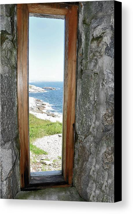 Lighthouse Canvas Print featuring the photograph From The Lighthouse by Colleen English